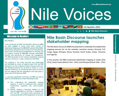 Nile Basin Discourse launches stakeholder mapping - Nile Voices, 1st Realese 2015