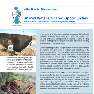 Shared Waters, Shared Opportunities In the Eastern Nile Watershed Management Project