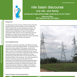 The NELSAP Power Interconnection Projects Fact Sheet