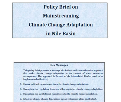 Policy Brief on Mainstreaming Climate Change Adaptation in Nile Basin Nile