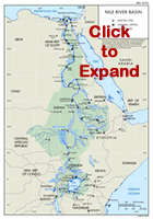 Nile Basin Area Map - Click for a bigger Image